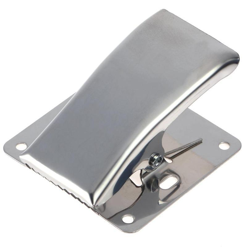 Fillet Clamp Deep-jaw Fish Tail Clip with Mounting Base Stainless Steel LP