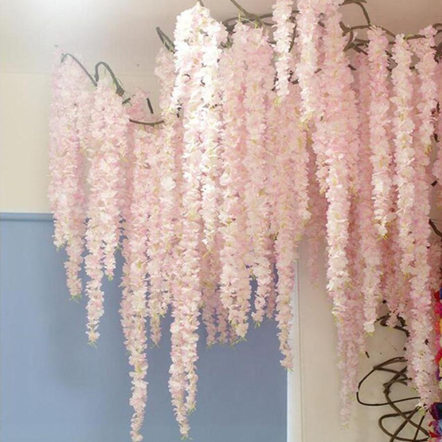 100cm Artificial Cherry Blossom Vine Silk Flowers Sakura For Party Wedding  Ceili | eBay